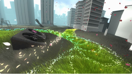 Urban revitalization in Flower (2009) (image courtesy thatgamecompany.com)