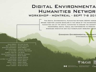 #DEHW – Digital Environmental Humanities Workshop at McGill