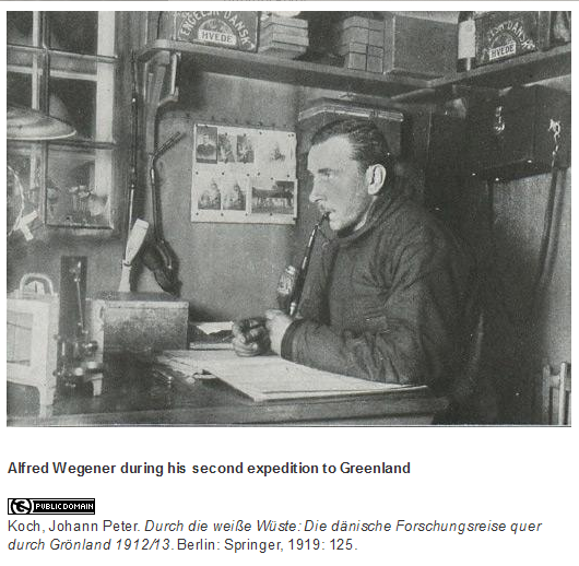 Photo of Wegener during his second expedition to Greenland