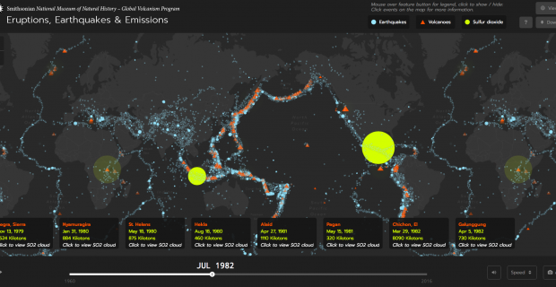 Eruptions, Earthquakes, & Emissions: Visualizing the Planet's Heartbeat