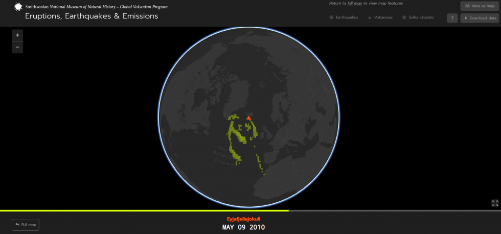 Global Volcanism Program, 2016. Eruptions, Earthquakes, & Emissions, v. 1.0 (internet application). Smithsonian Institution. Accessed 16 October 2016.